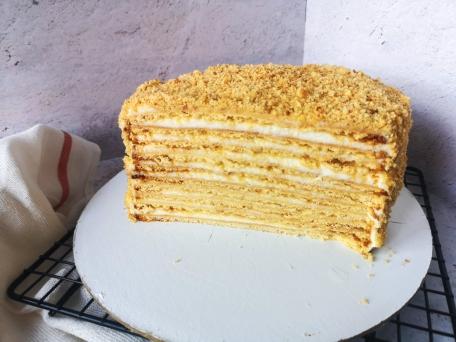 торт медовик со сметанковым кремом