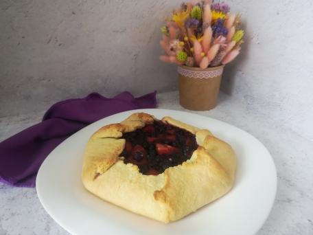 Очень вкусная и ароматная галета с ягодами пошаговый рецепт