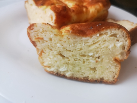 Творожный кекс на завтрак очень простой рецепт