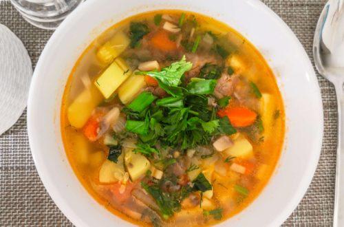 Суп с кабачками