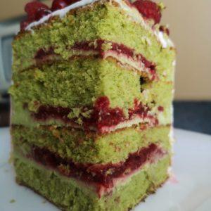 Торт фисташка-малина