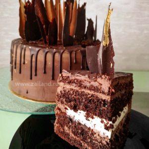 Шоколадный торт с намелакой