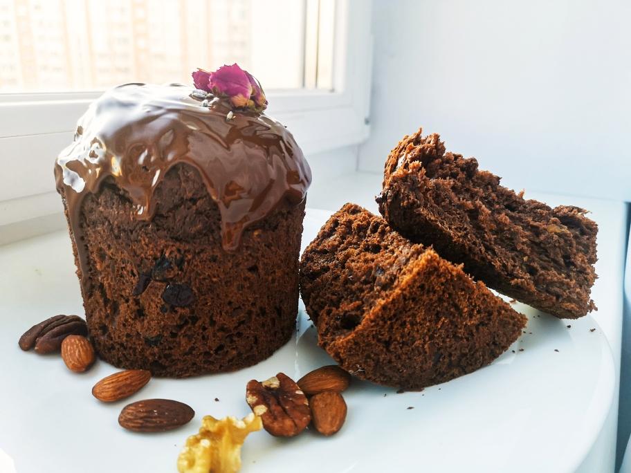 Шоколадный пасхальный кулич вкусный рецепт с фото и видео