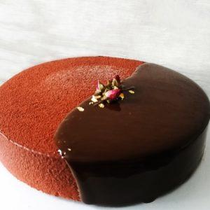 Декор шоколадный велюр с глазурью