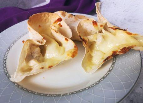 Порционная закуска жульен в хрустящем лаваше