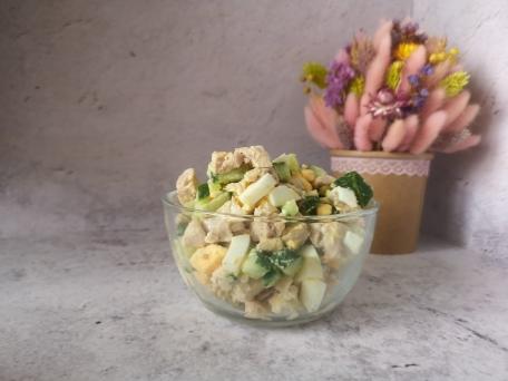 Быстрый и сытный салат на ужин для всей семьи