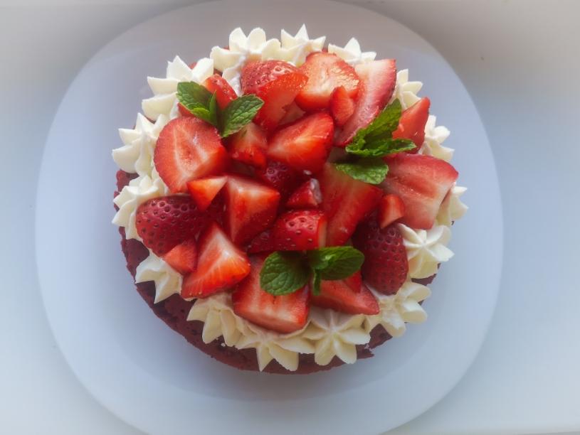 Торт Красный бархат с крем-чизом на сковороде