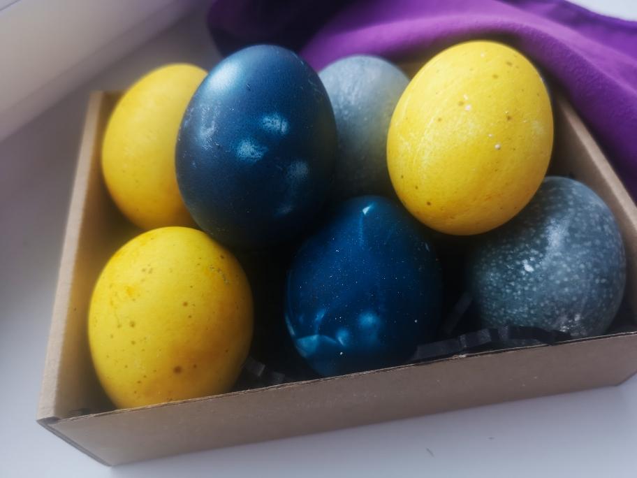 пасхальные яйца из натуральных красителей